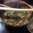 【子連れ東北旅1日目】大内宿で高遠蕎麦を食べようと思ったけど1時間待ちだったので「萬屋」でねぎそばを食べたらおいしかった