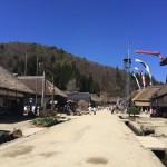 【子連れ東北旅1日目】茅葺屋根の建物が並ぶ福島県の宿場町「大内宿」に行ってきた