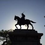 【子連れ東北旅2日目】川や谷、山に囲まれた天然の要害、伊達政宗像もある「仙台城」に行ってきた